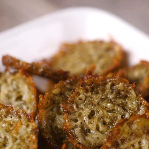 Pesto Parmesan Chips Recipe by Tasty