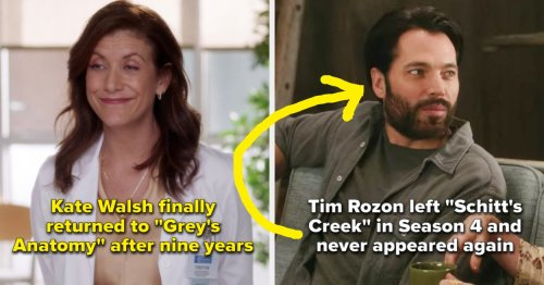 13 Actors Who Left Their TV Shows But Eventually Returned And 13 Who Never Did An Episode Again