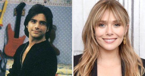 """I Can't Stop Smiling Over This Photo John Stamos Shared Of Little Elizabeth Olsen Behind The Scenes Of """"Full House"""""""