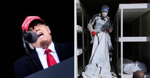 Here Are 13 Tweets From Americans Mourning COVID-19 Deaths Next To Trump's Tweets Lying About The Election