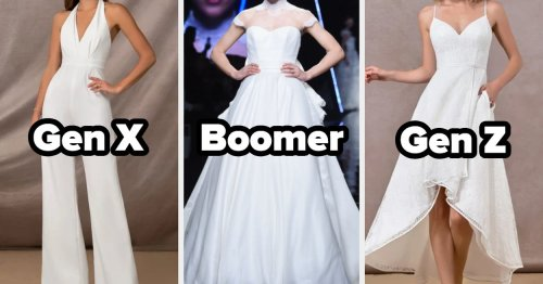 The Wedding Dress Aesthetic You Go For Will Reveal Your Generation