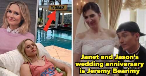 """50 Hidden Details From """"The Good Place"""" That Are Beyond Genius And Deserve At Least +1,000,000 Good Points"""
