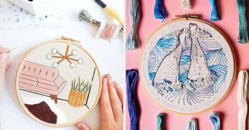 29 Embroidery Patterns That Might Make Passing The Time A Stitch Easier