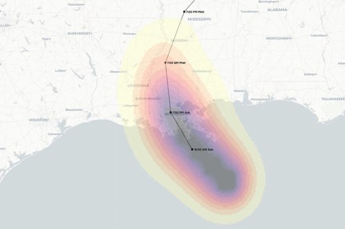 These Updating Maps Show Where Hurricane Ida Could Hit Hardest