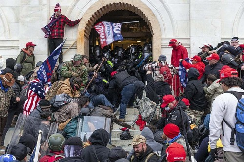 """A US Navy Contractor Allegedly Urged The Pro-Trump Mob To """"Advance"""" Into The Capitol"""