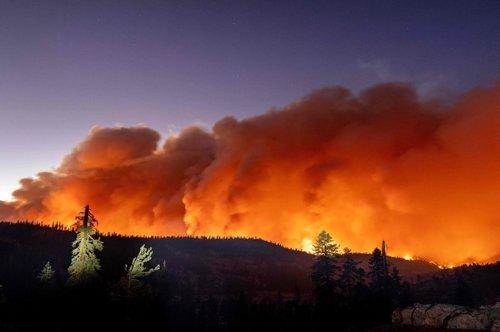 Devastating Photos Show The Caldor Fire Burning Near Lake Tahoe