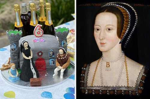 A 6-Year-Old Requested A Birthday Cake Showing The Beheading Of Anne Boleyn And That's Exactly What She Got
