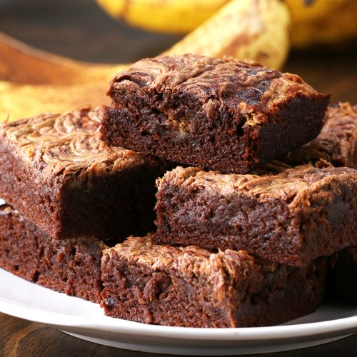 Peanut Butter Banana Brownies Recipe by Tasty