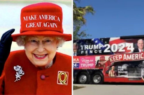 """Buckingham Palace Told A """"Trump Train"""" Bus To Stop Using The Queen's Image"""