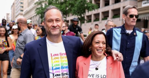 I'm Giving Kamala Harris A Round Of Applause For Becoming The First Sitting Vice President To March In A Pride Parade