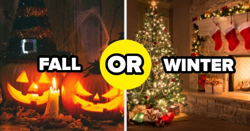 I'm Genuinely Curious If You Think Fall Or Winter Is A Better Season