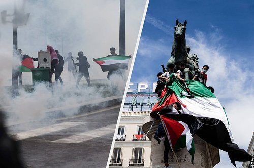 Thousands Of People Protested In Support Of Palestinians In Major Cities Around The World