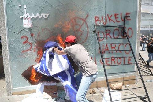 Bitcoin ATM Burned in El Salvador Amid Anti-Bukele Protests