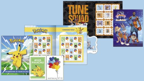 Official Pokemon and Space Jam stamps coming to Australia Post
