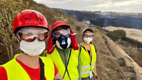Drei Potsdamerinnen erforschen den Vulkanausbruch auf La Palma