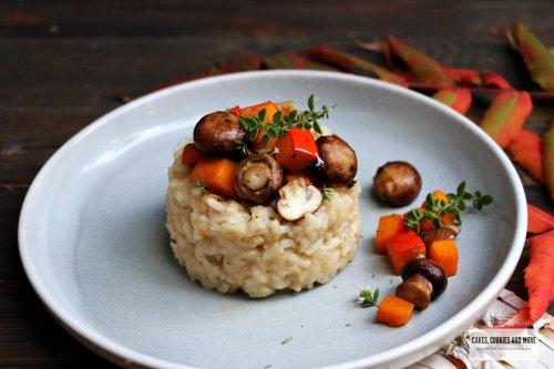 Risotto mit Kürbis und Pilzen