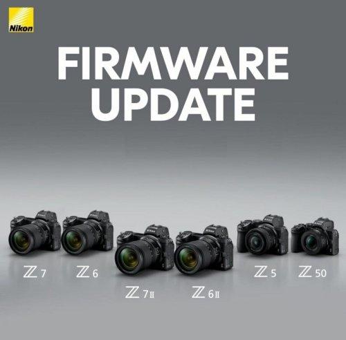 Nikon Z7 II, Z6 II, Z7, Z6, Z5 and Z50 Firmware Updates Released