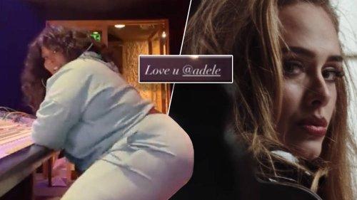 Lizzo fangirls as she twerks to Adele's new heartbreak song