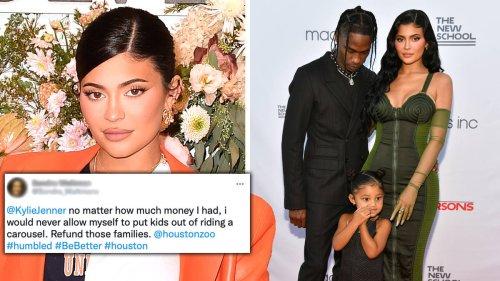 Kylie Jenner & Travis Scott slammed for 'shutting down rides' at Houston Zoo