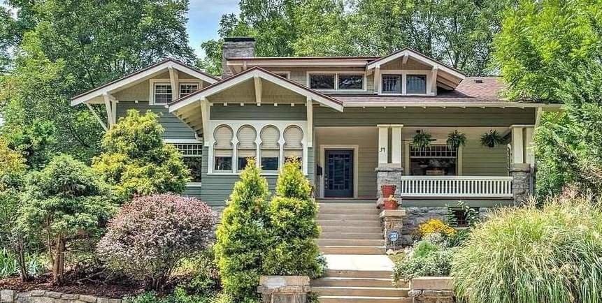 1907 Craftsman For Sale In Asheville North Carolina — Captivating Houses