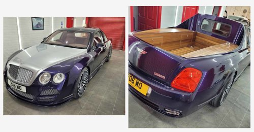 Tray chic: Bentley Continental Flying Spur ute custom-built in the UK   CarAdvice
