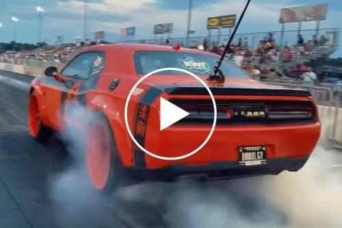 Dodge Demon With Massive 24-Inch Wheels Goes Drag Racing