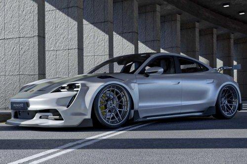 Porsche Taycan Gets Stunning 911 GT3 RS Body Kit