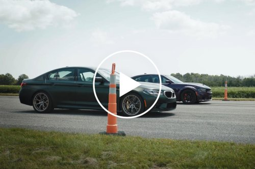 Watch A BMW M5 CS Destroy A Dodge Charger Hellcat Redeye In Drag Races