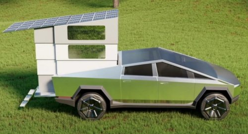 CyberLandr Is A Pop-Up Camper That Fits On The Tesla Cybertruck's Bed