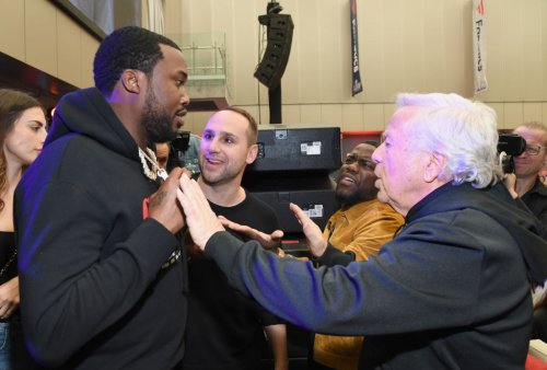 Jay-Z and Meek Mill Bless Billionaire New England Pats Owner Robert Kraft With A Bentley