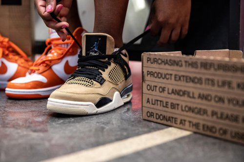"""The """"Nike Refurbished"""" Initiative Is Pushing Customers To Cop Used Sneakers In The Name Of Sustainability"""