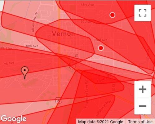 Transmission circuit failure creates massive power outage (Vernon)