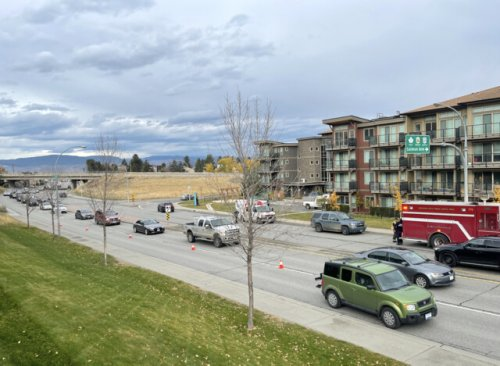 Traffic slow on Summit Drive after crash near Springhill (Kamloops)