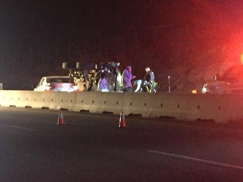 Rollover crash on Highway 97 near Gorman's Mill on Sunday night (West Kelowna)