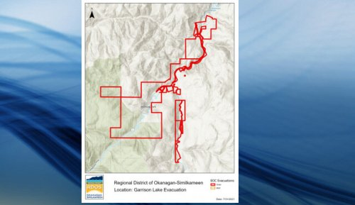 RDOS issues evacuation order for Electoral Area H from the Garrison Lake wildfire (BC)