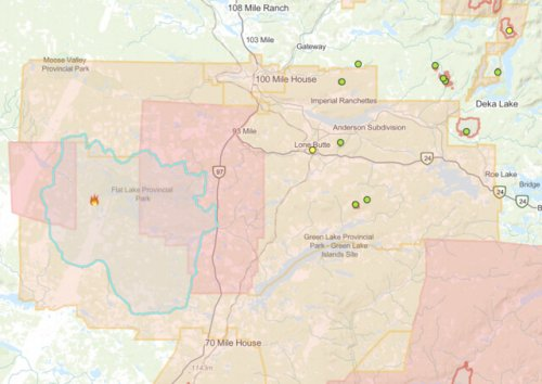 Wildfire southwest of 100 Mile House sees big growth, now estimated at nearly 40K hectares (Kamloops)