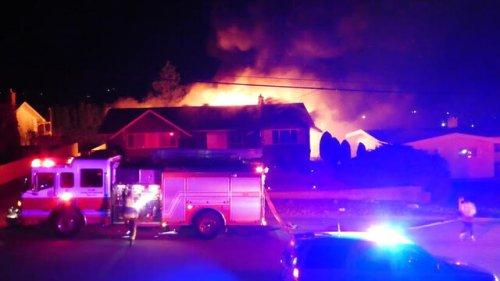 Overnight house fire on Penticton's Woodlands Place