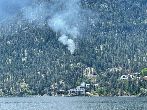 Fire crews are responding to a fire above Lake Okanagan Resort (West Kelowna)
