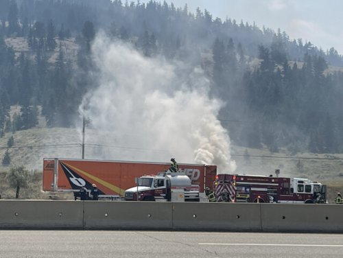 Emergency crews are on scene at the west end of the city on Highway 1 - Kamloops News