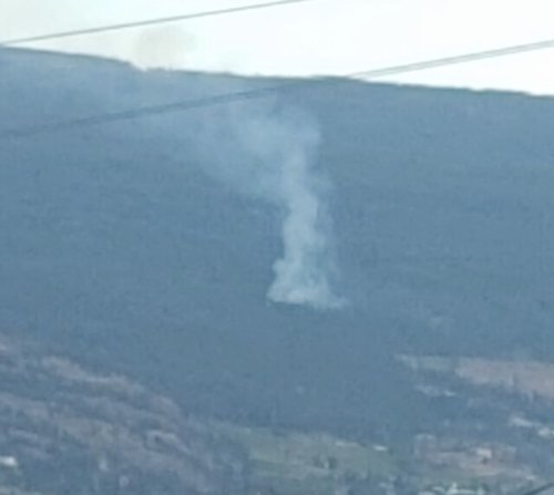 Fire above Naramata an illegal open burn: BC Wildfire Service (Penticton)