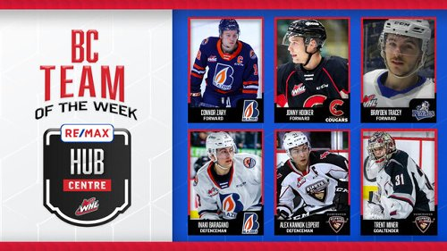 Pair of Kamloops Blazers named to WHL's B.C. Hub Team of the Week (WHL)
