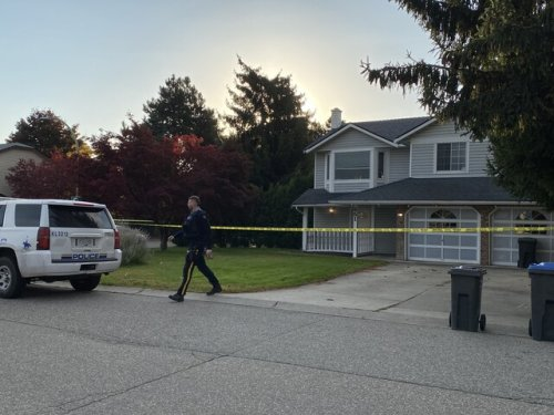 Police tape surrounds home on Bechard Road