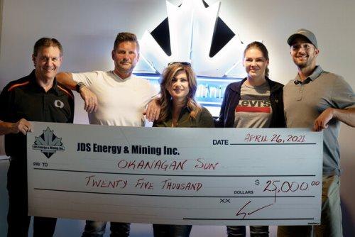 A Kelowna company makes a significant contribution to Okanagan Sun scholarship program (BCFC)