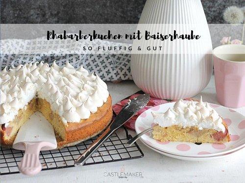Rhabarberkuchen mit Baiser Rezept – so fluffig & lecker