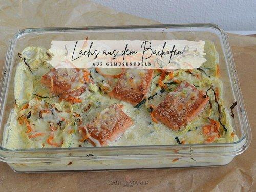 Leckerer Lachs aus dem Backofen auf Gemüsenudeln « Castlemaker Food & Lifestyle Magazin
