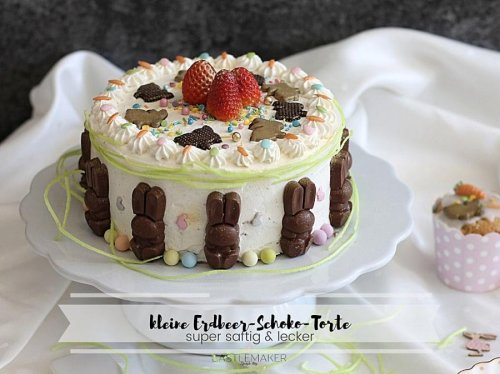 Saftige Erdbeer-Schokotorte - einfache Schokoladentorte mit Erdbeeren « Castlemaker Food & Lifestyle Magazin