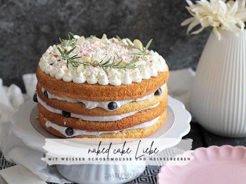Super leckerer naked cake mit weißer Schokomousse & Heidelbeeren - weiße Schokomoussetorte « Castlemaker Food & Lifestyle Magazin