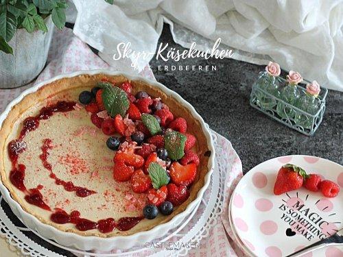 Super köstlicher Skyr-Käsekuchen mit Erdbeeren « Castlemaker Food & Lifestyle Magazin