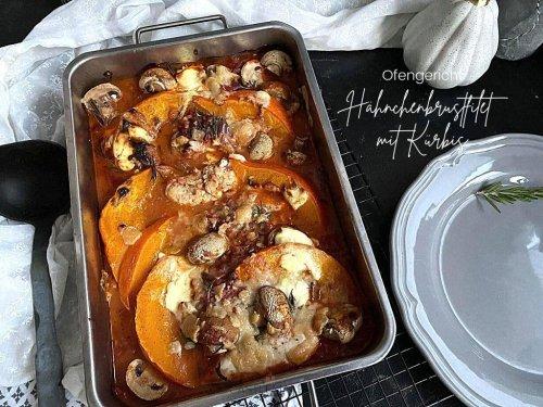 Hähnchenbrust aus dem Backofen mit Kürbis und Pilzen - super einfaches Ofengericht « Castlemaker Food & Lifestyle Magazin