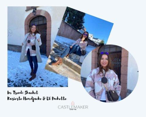 Modetrend Shacket kombinieren - karierte Hemdjacke & Louis Vuitton Multi Pochette « Castlemaker Food & Lifestyle Magazin